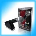 Microfones Wireless 5 em 1 Wii / XBOX 360 / PS2 / PS3 e PC